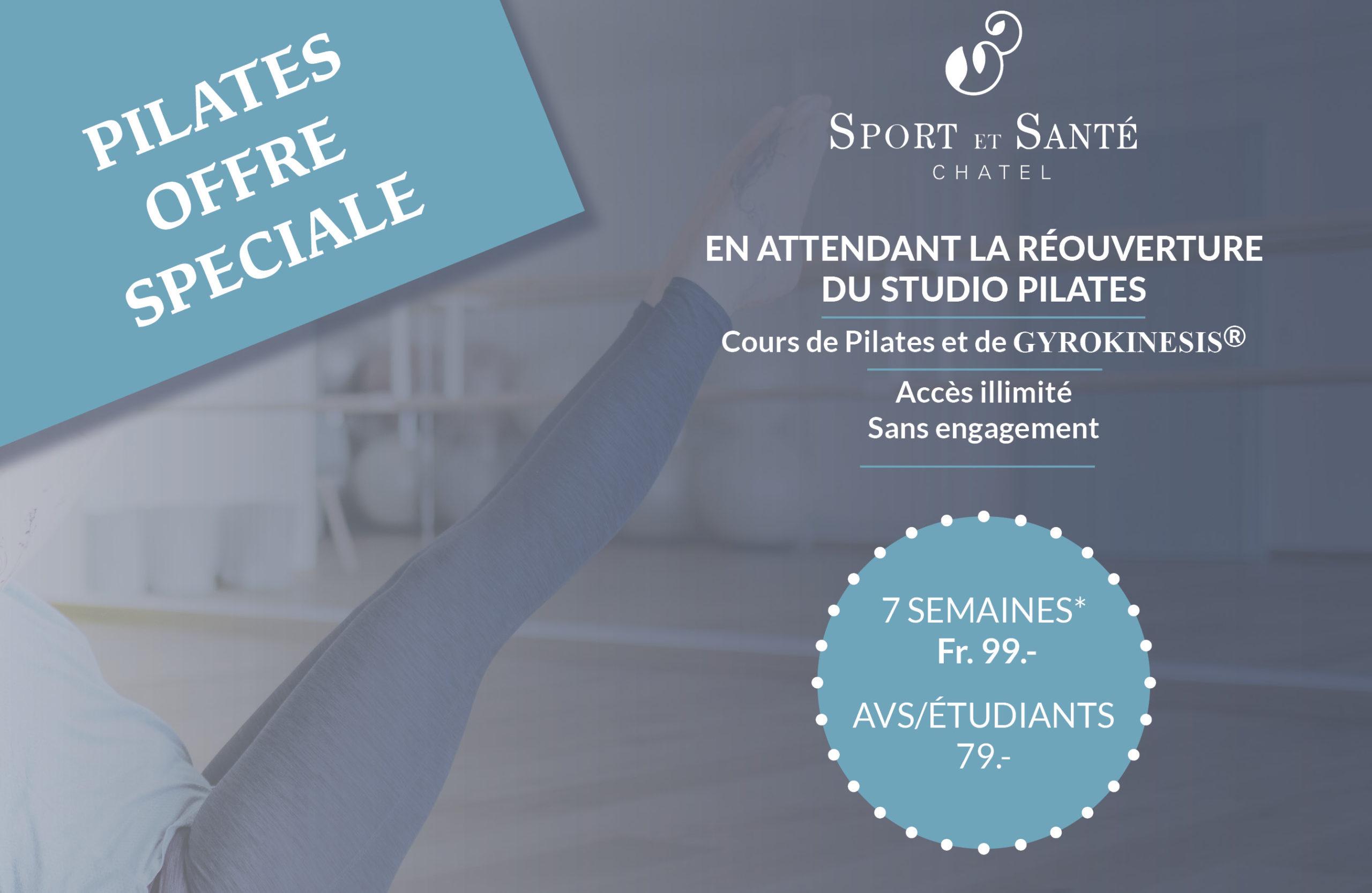 Le planning de Pilates du 20 avril au 7 juin